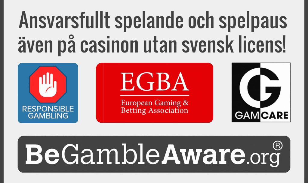 Finns ansvarsfullt spelande och spelpaus även på casinon utan svensk licens?