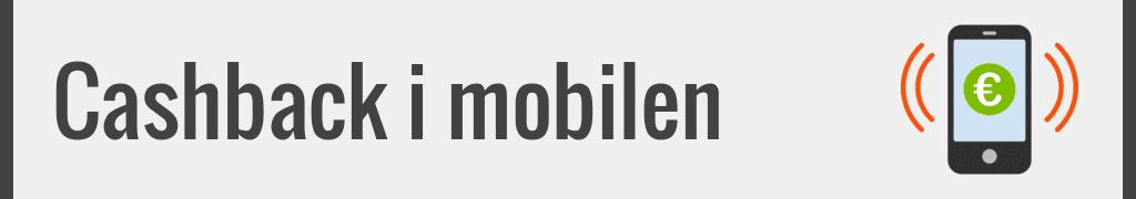 Cashback i mobilen