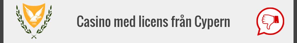 Casino med licens från Cypern.