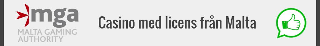 Casino med licens från Malta.