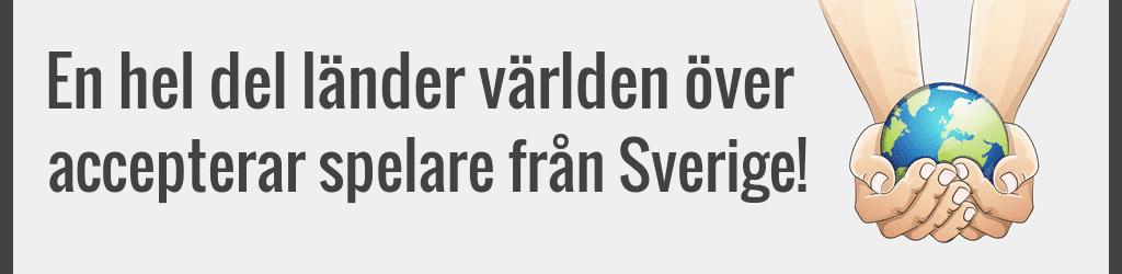 Casinon som accepterar svenska spelare