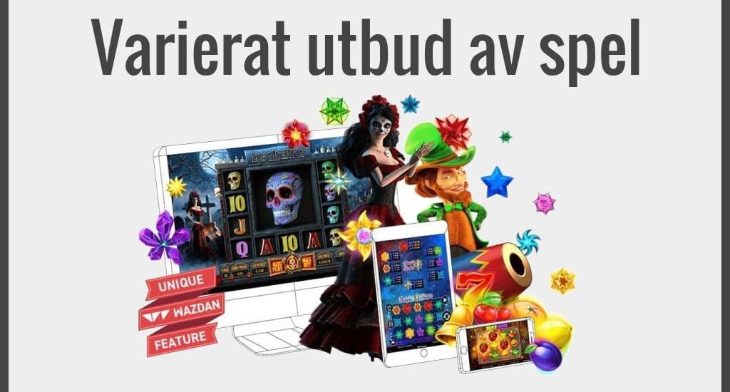 Ett varierat utbud av spel på casino utan licens
