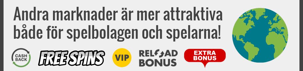 Att spela på utländska casinon är mer attraktivt för svenska spelare