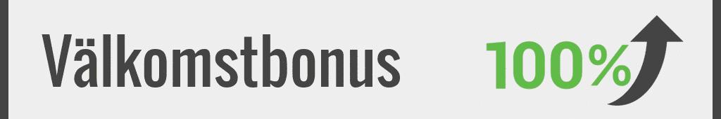 Välkomstbonus är ofta största bonus