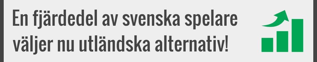 Svenska spelare väljer utländska casino