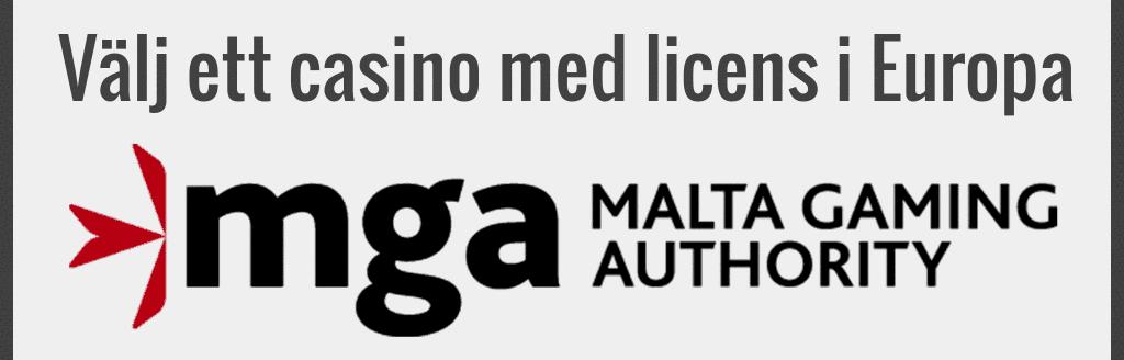 Välj casino med licens i Europa