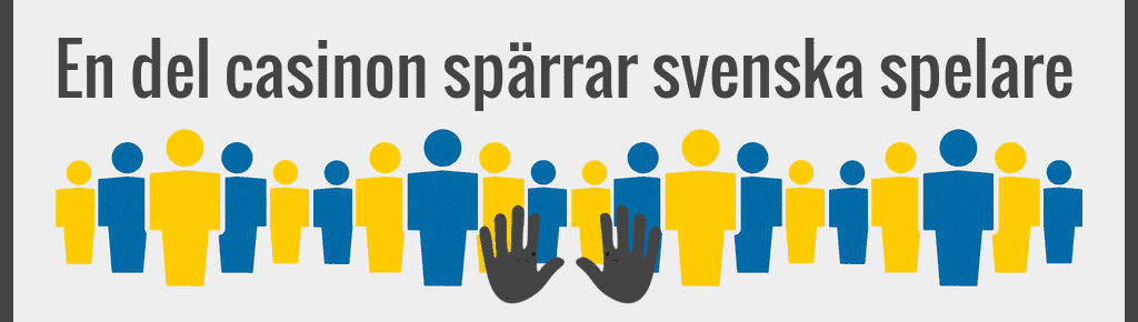 En del casinon spärrar svenska spelare.